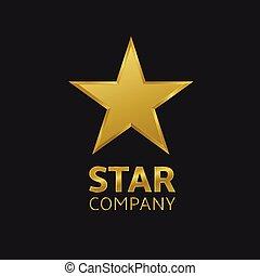 logotipo, estrella
