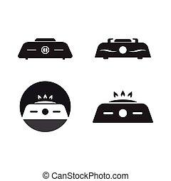 logotipo, estufa
