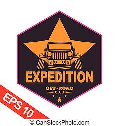 logotipo, expedições, modelo, montanha