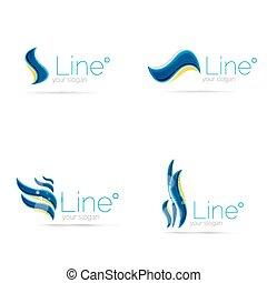 logotipo, Extracto, línea, onda