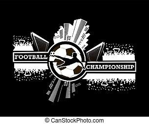 logotipo, fútbol, campeonato