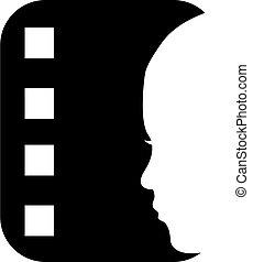 logotipo, faixa película