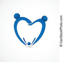 logotipo, família, odontologia