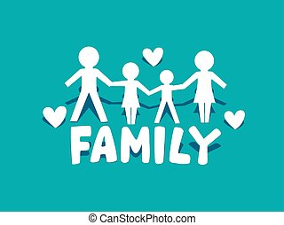 logotipo, famiglia, icona