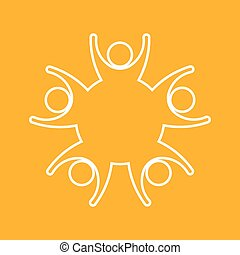 logotipo, famiglia, persone