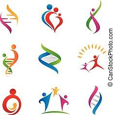 logotipo, famiglia, relazione, icona
