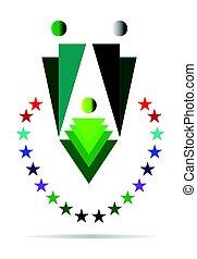 logotipo, famiglia