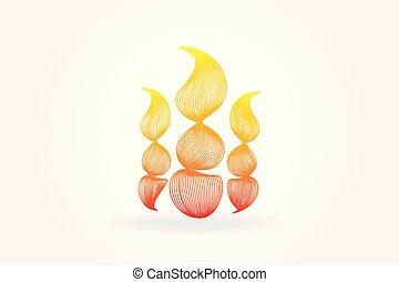 logotipo, fiamme