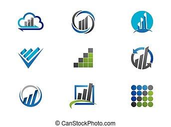 logotipo, finanças, negócio