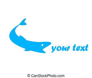 logotipo, fish.