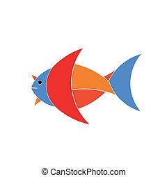 logotipo, fish