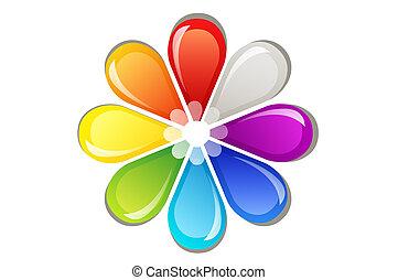 logotipo, flor