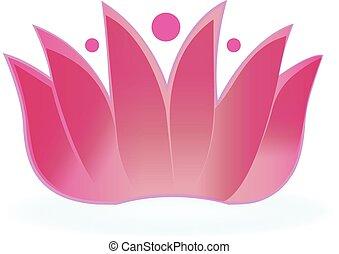 logotipo, flor lotus