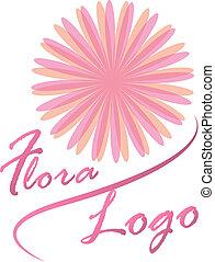 logotipo, flora, fiore dentellare