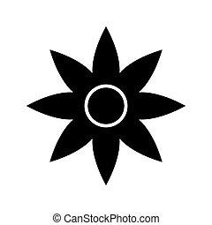 logotipo, fondo., moderno, plano, negro, símbolo, estilo, ...