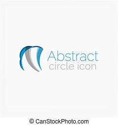 logotipo, forma, cerchio, astratto