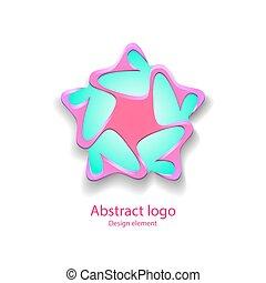 logotipo, forma, estrela