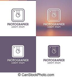 logotipo, fotógrafo