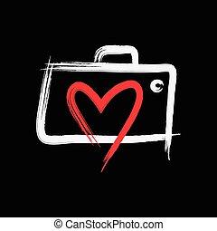logotipo, fotografia, amore