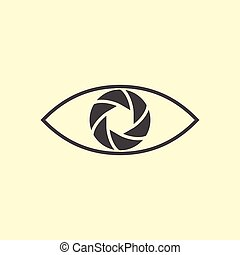 logotipo, fotografia, disegno, eye.