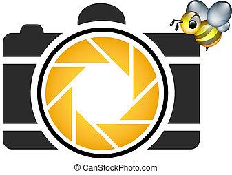logotipo, fotografia, honeybee