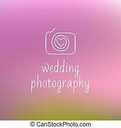 logotipo, fotografia, matrimonio