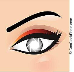 logotipo, fotografia, occhio