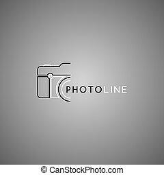 logotipo, fotografia, tema, sagoma