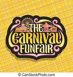 logotipo, funfair, vetorial, carnaval