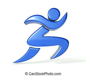 logotipo, ganador, figura