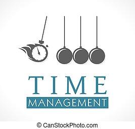 logotipo, -, gestione del proprio tempo, concetto