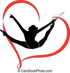 logotipo, gimnasia