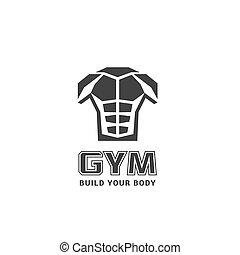 logotipo, ginásio, vetorial