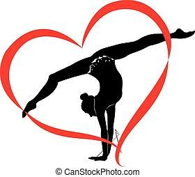 logotipo, ginástica