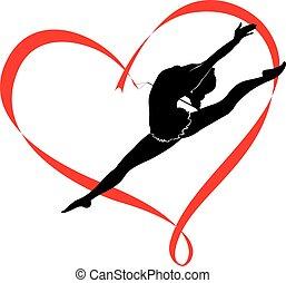 logotipo, ginnastica