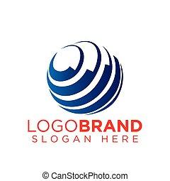 logotipo, globale, tecnologia, sagoma