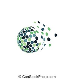 logotipo, globale, tecnologia