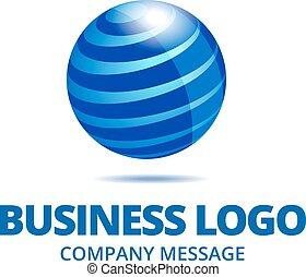 logotipo, globo, dinamico, affari