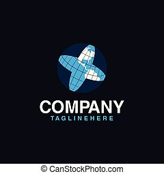 logotipo, globo, disegno, sagoma