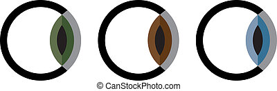 logotipo, globo ocular