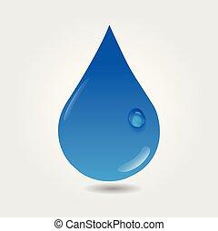 logotipo, goccia acqua