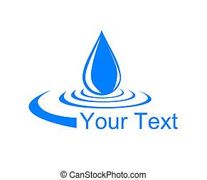 logotipo, goccia, water.