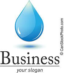 logotipo, gota agua