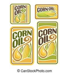 logotipo, granaglie, vettore, olio