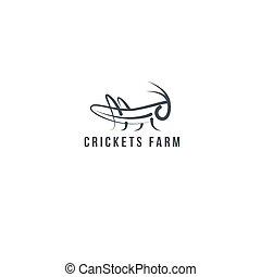 logotipo, grillo, insetto, cavalletta