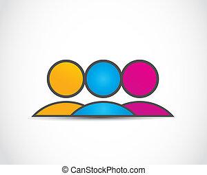 logotipo, grupo, negócio