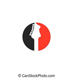 logotipo, guitarra