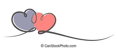 logotipo, hearts.