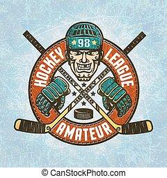 logotipo, hockey