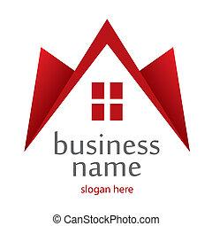 logotipo, hogar